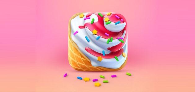 icecream icon 25 Amazing IOS icon designs