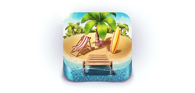paridise icon 25 Amazing IOS icon designs