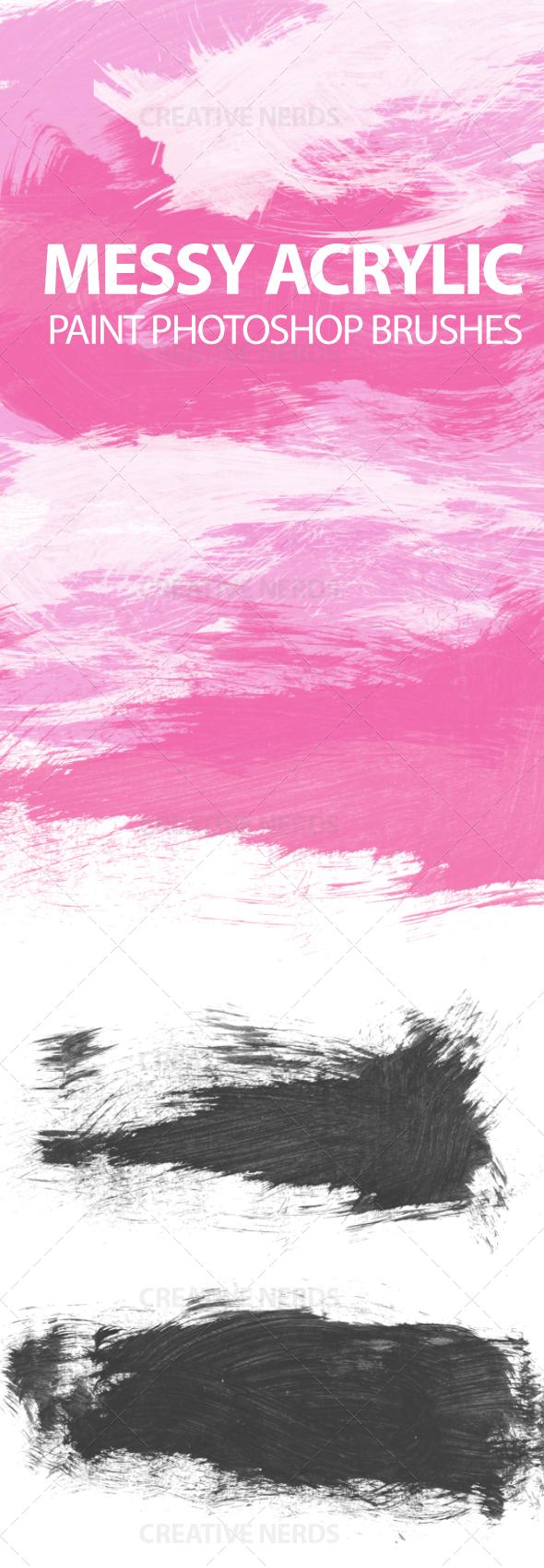 watermarked messyacyrlic paint strokes Premium members: 9 Acrylic paint strokes Photoshop brushes