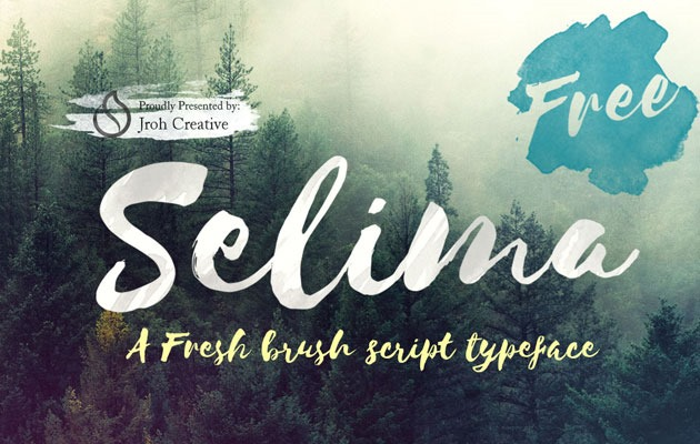 SELIMA 20 Fresh new free fonts from 2016