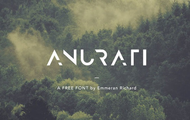 anurafi 20 Fresh new free fonts from 2016