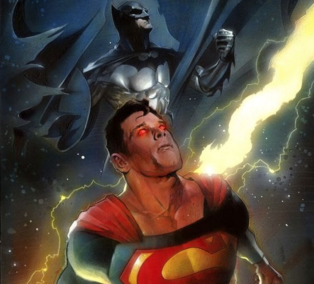 batman superman mid air 30 Awsome Batman vs Superman illustrations