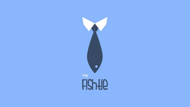 fish tie 20 Creative flat modern logo designs