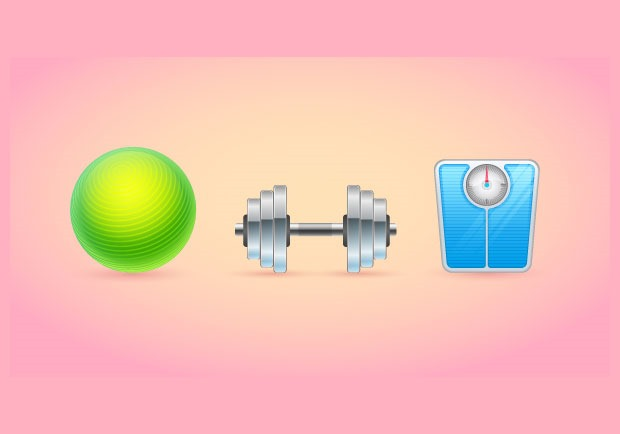 fitness icons 30 Fresh new Illustrator tutorials from 2016