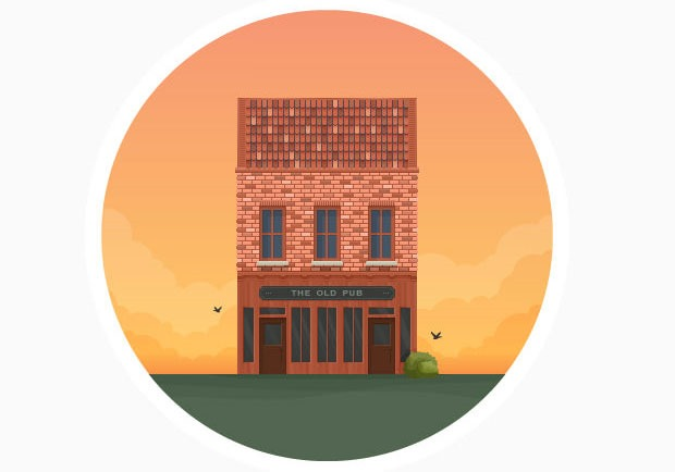 flat pub icon 60 best Illustrator tutorials from 2016