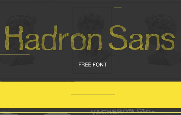 hadron sans 20 Fresh new free fonts from 2016
