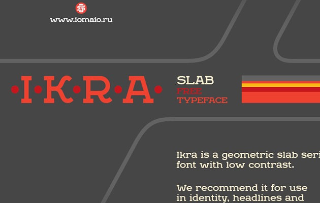 ikra slab 20 Fresh new free fonts from 2016