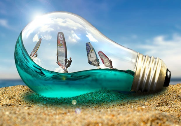 light bulb effect 80 best Photoshop tutorials created in 2016