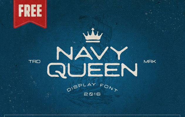 navy green 20 Fresh new free fonts from 2016