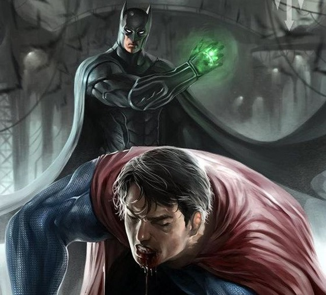 super man down 30 Awsome Batman vs Superman illustrations