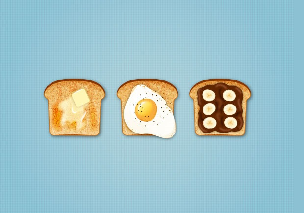 toast icons 30 Fresh new Illustrator tutorials from 2016