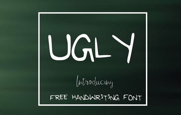 ugly 20 Fresh new free fonts from 2016