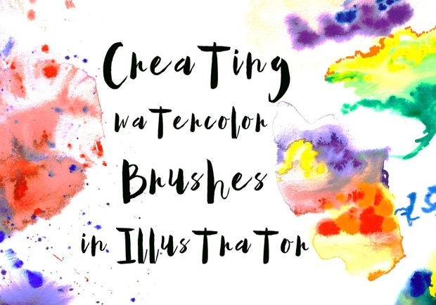 watercolor background 30 Fresh new Illustrator tutorials from 2016