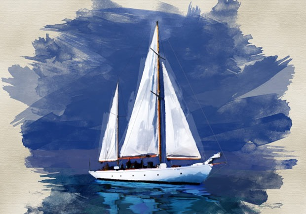 watercolor boat thumb 80 best Photoshop tutorials created in 2016