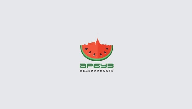 watermelon 20 Creative flat modern logo designs