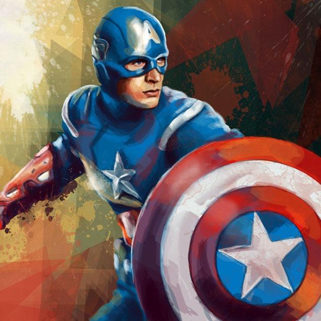 captin america eriyana Awesome Captain America illustration showcase