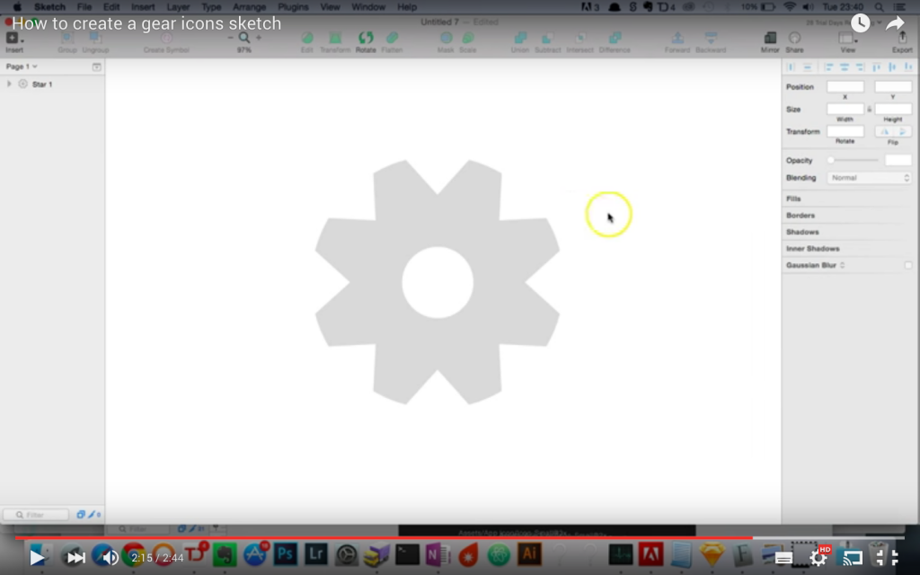 gear icon 1024x640 How to create a gear icon using Sketch