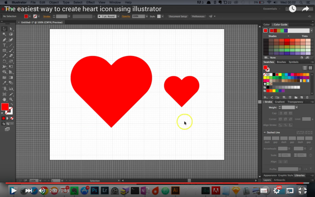 How To Create A Heart Icon In Illustrator Creative Nerds