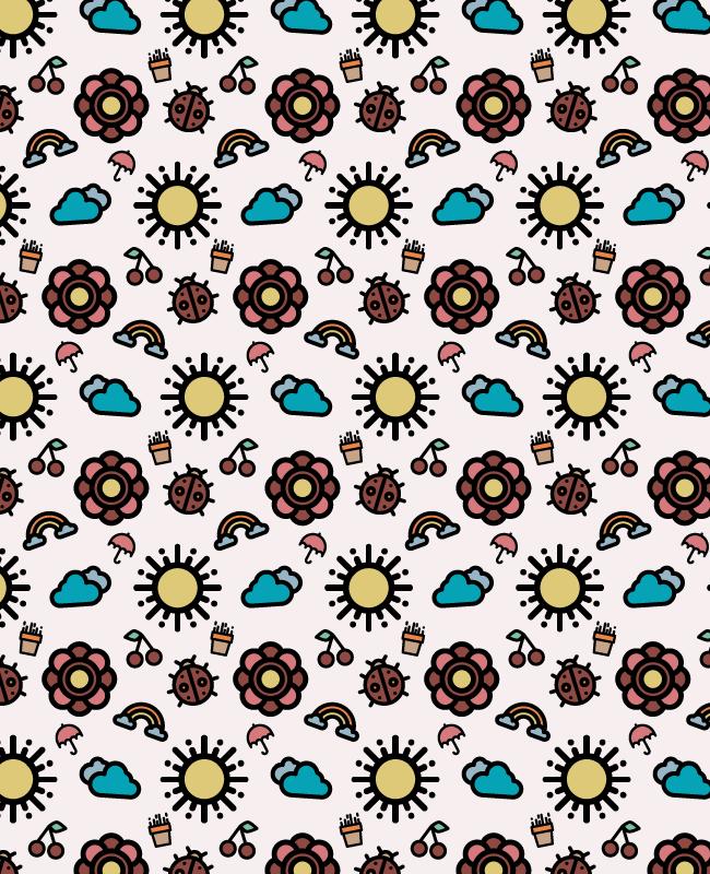 spring pattern 1 Creative spring free seamless vector pattern