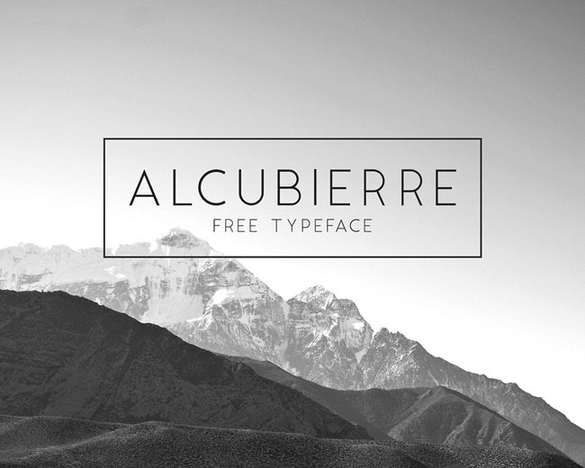 Alcubierre 100 Best free fonts to use for creating a logo