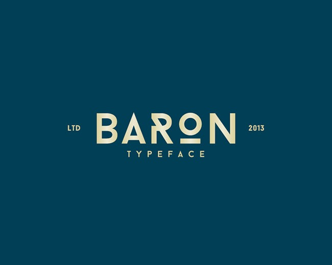 baron 100 Best free fonts to use for creating a logo