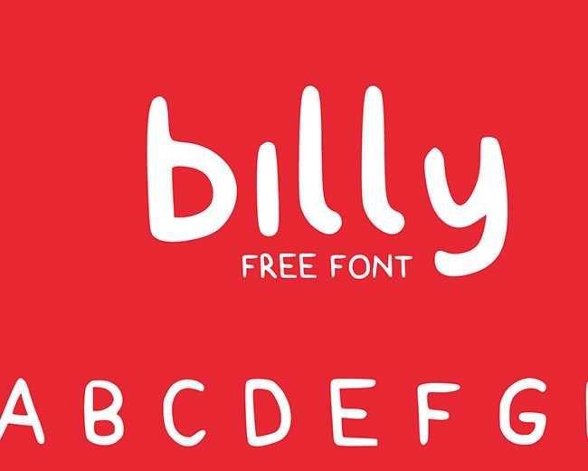 billy 100 Best free fonts to use for creating a logo