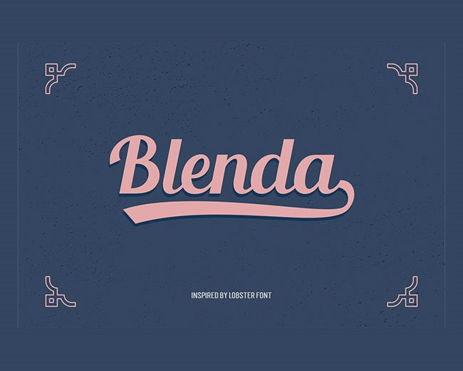 blenda 100 Best free fonts to use for creating a logo