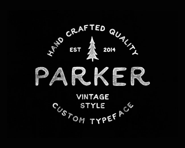 parker 100 Best free fonts to use for creating a logo