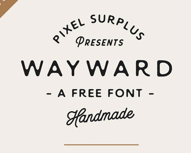 wayward 100 Best free fonts to use for creating a logo