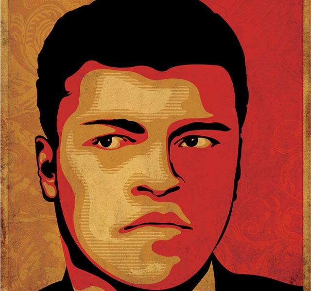 mohammed ali face portait RIP Mohammed Ali the world's greatest boxer – illustration showcase