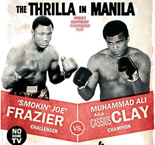 mohammed ali thrinilla in manilla RIP Mohammed Ali the world's greatest boxer – illustration showcase