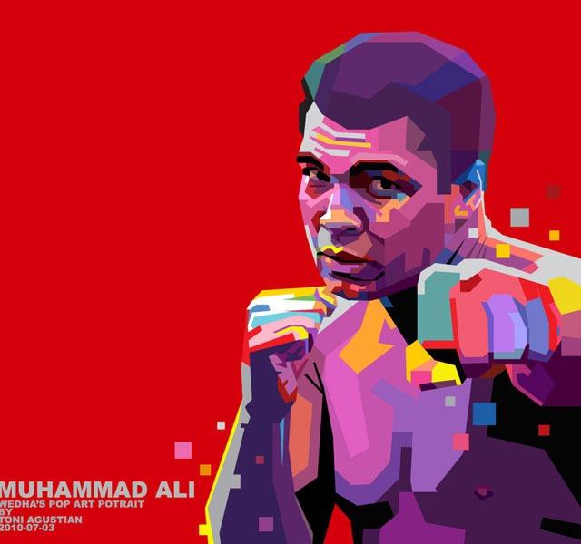 pop art RIP Mohammed Ali the world's greatest boxer – illustration showcase