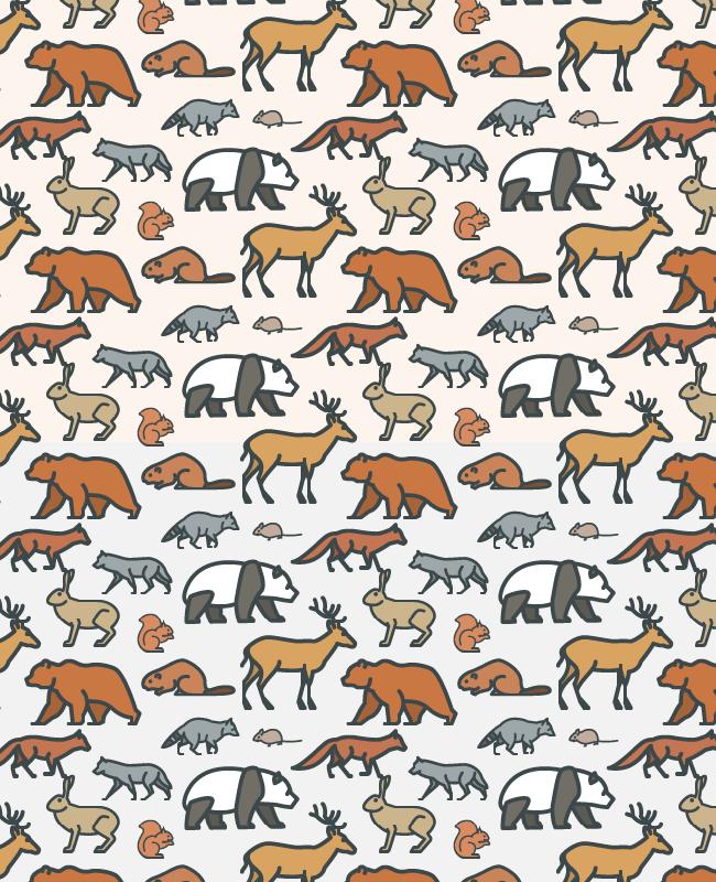wild animal pattern Cute wild animals free seamless vector pattern
