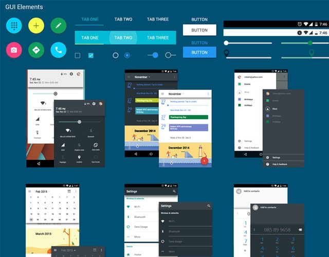 android ui kit 30 Free mobile UI kits for Photoshop and Sketch
