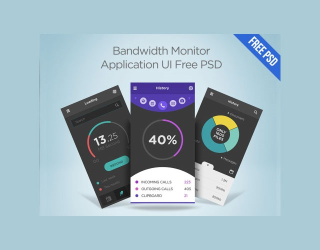 bandwidth 30 Free mobile UI kits for Photoshop and Sketch