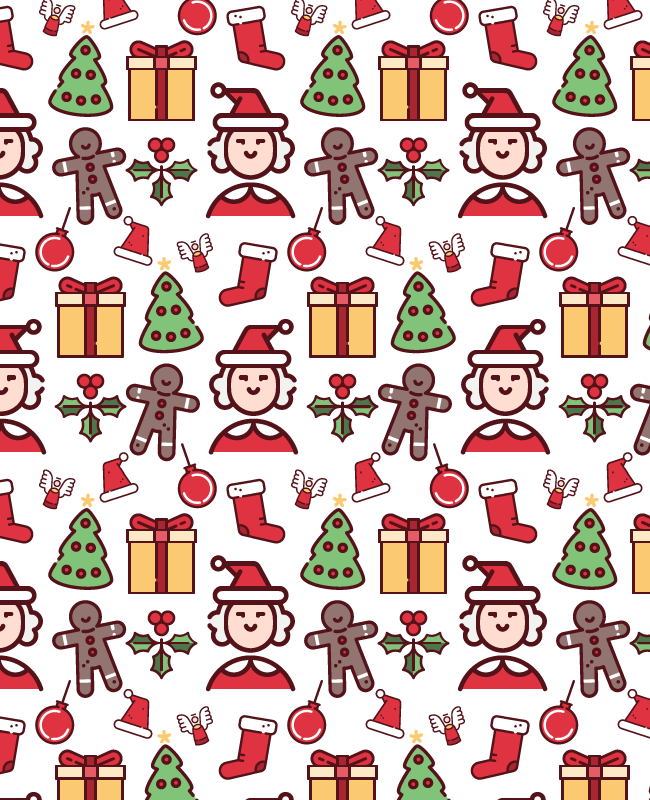 christmas seamless pattern grey Christmas cute fun free semaless vector pattern