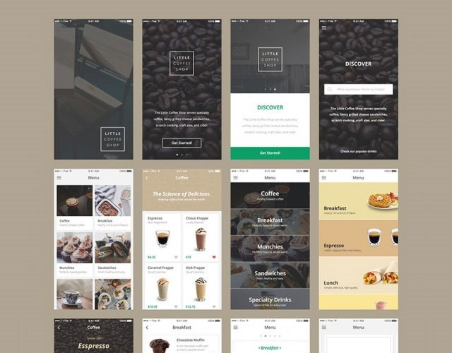 ecommerce kit 30 Free mobile UI kits for Photoshop and Sketch