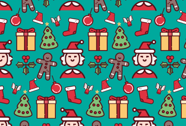 Christmas Cute Fun Free Semaless Vector Pattern Creative Nerds New Christmas Patterns