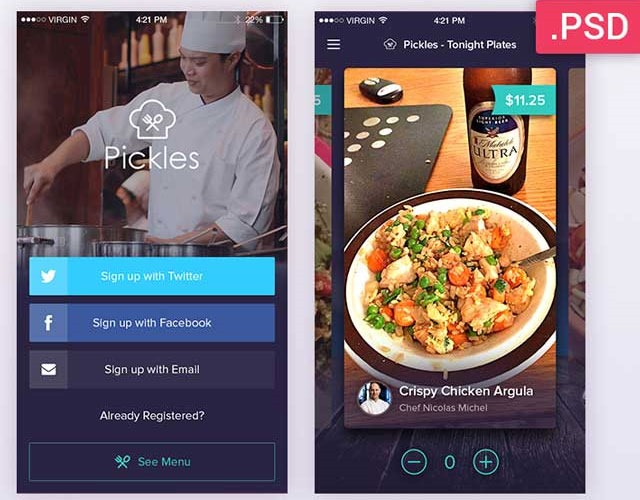 pickles 30 Free mobile UI kits for Photoshop and Sketch