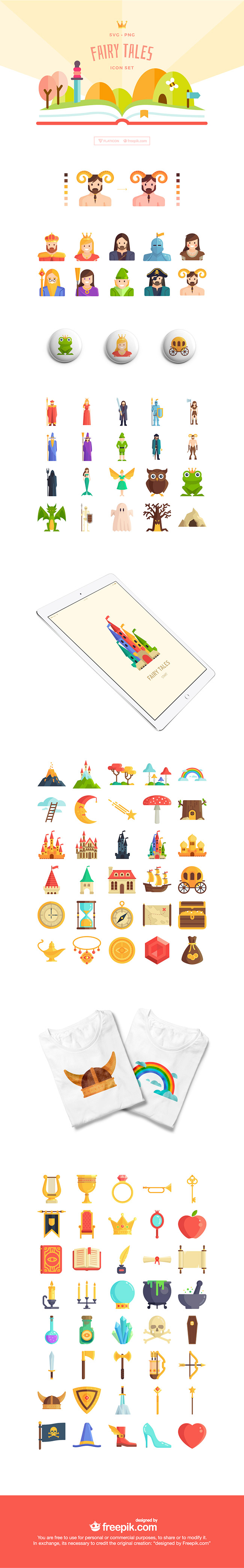 fairy tale preview 100 Free Fairy Tale themed icon set