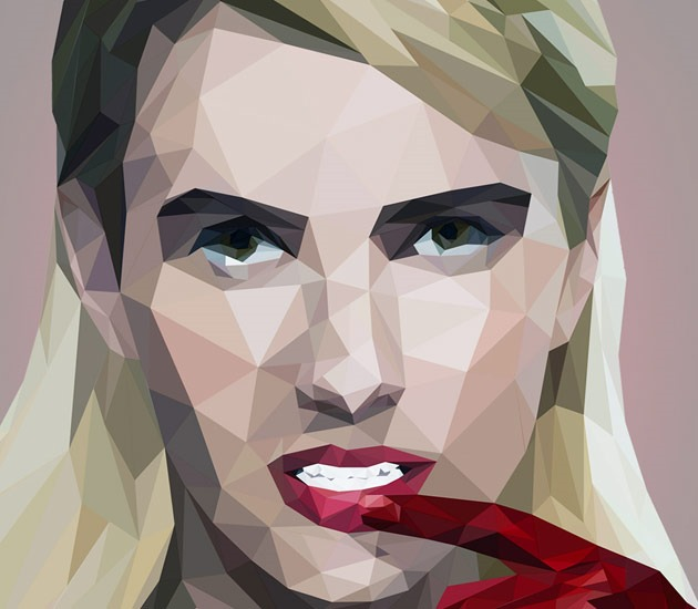 female low poly 20 Beautiful examples of Low Poly design illustrations