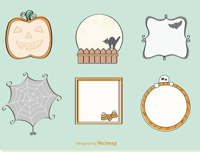 frames 40 Essential free Halloween vectors and icons