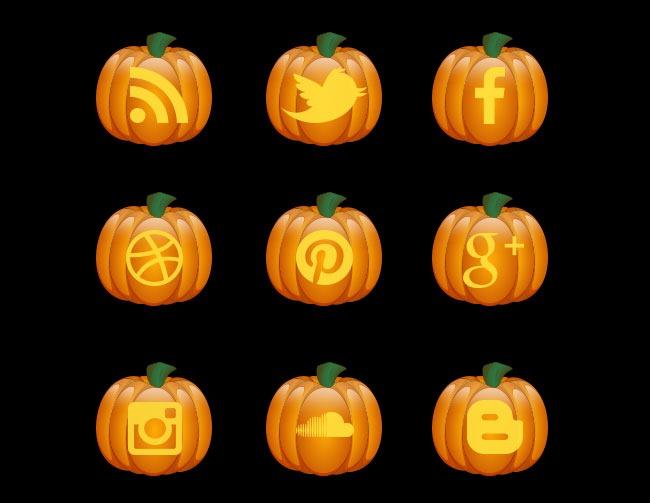 halloween-pumkin-icon-set