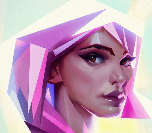 porttait one portait2 20 Beautiful examples of Low Poly design illustrations