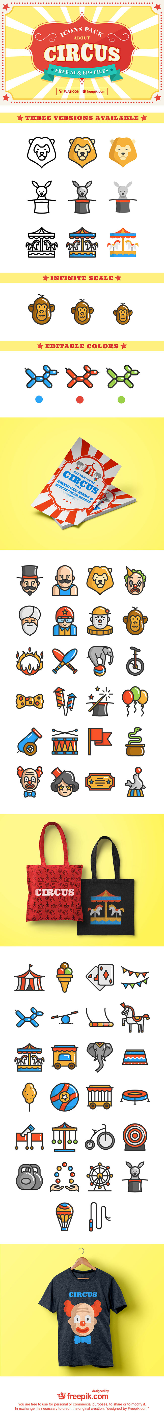 preview Circus COVER 01 50+ free Circus SVG and PNG icon set