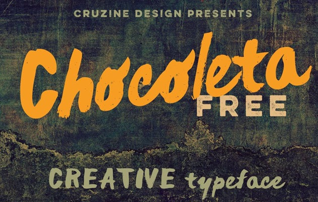 CHOCLETA 50 best free fonts from 2016
