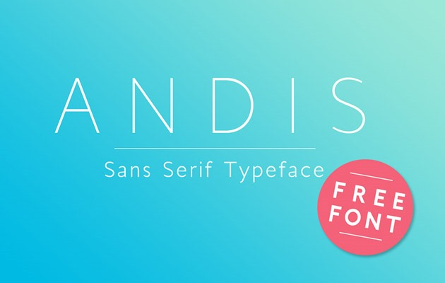 andis 50 best free fonts from 2016