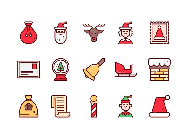 75christmas icons 25 Free Christmas themed icon sets