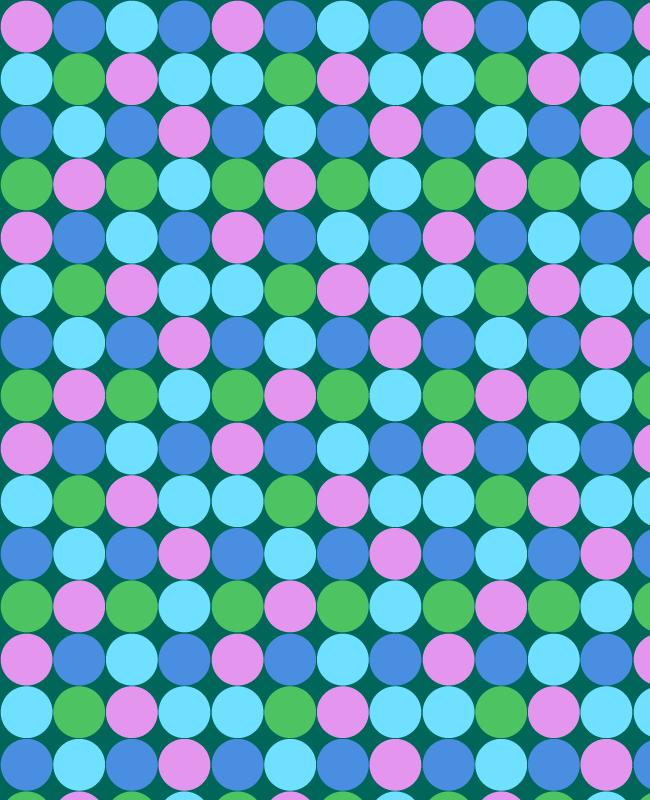 bluepattern Colorful circle free seamless vector pattern