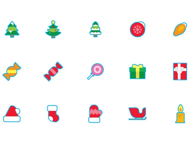 christmas freebie 25 Free Christmas themed icon sets